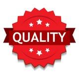 Sello de calidad rojo stock de ilustración