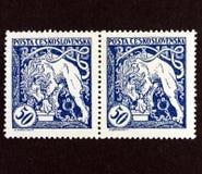 Sello de Checoslovaquia imagenes de archivo