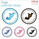 Sello de Congo ilustración del vector