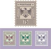 Sello de correo del vector con Eagle Badge Shield Seventy Five Fotos de archivo