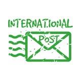 Sello de correo internacional del franqueo del vintage del vector libre illustration