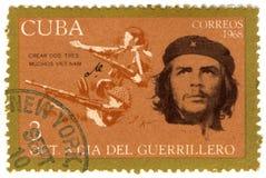 Sello de Cuba con Che Guevara imagen de archivo
