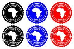 Sello de goma de África Fotos de archivo
