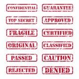 Sello de goma Imagen de archivo libre de regalías