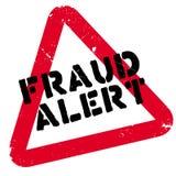Sello de goma alerta del fraude stock de ilustración