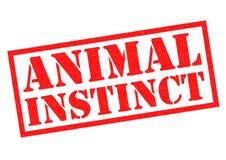 Sello de goma ANIMAL del INSTINTO ilustración del vector