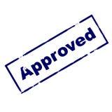 sello de goma aprobado de la tinta Fotografía de archivo