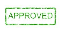 Sello de goma aprobado verde