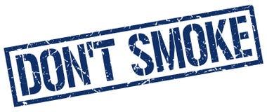 Sello de goma azul del vintage del cuadrado del grunge del humo del ` t de Don stock de ilustración