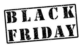 Sello de goma de Black Friday en estilo del Grunge Foto de archivo libre de regalías