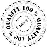 Sello de goma: Calidad 100% libre illustration