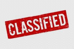 Sello de goma clasificado rojo del sello del cuadrado del Grunge foto de archivo libre de regalías