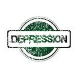 Sello de goma con la depresión Imagen de archivo