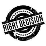 Sello de goma correcto de la decisión stock de ilustración