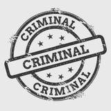 Sello de goma criminal aislado en blanco libre illustration