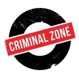 Sello de goma criminal de la zona ilustración del vector