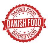 Sello de goma danés del grunge de la comida Fotografía de archivo libre de regalías