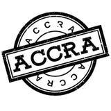 Sello de goma de Accra Fotos de archivo libres de regalías