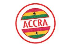 Sello de goma de Accra Fotografía de archivo