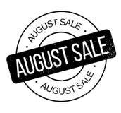 Sello de goma de August Sale Imágenes de archivo libres de regalías