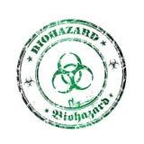 Sello de goma de Biohazard Fotos de archivo libres de regalías