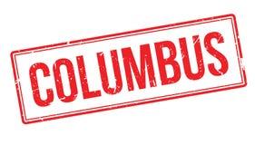 Sello de goma de Columbus stock de ilustración