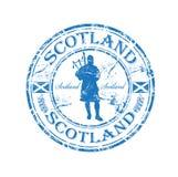 Sello de goma de Escocia Fotografía de archivo