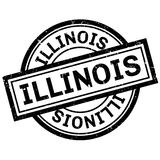 Sello de goma de Illinois Fotos de archivo