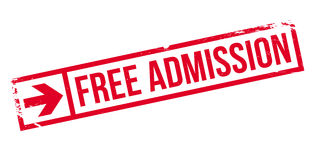Sello de goma de la admisión libre Imágenes de archivo libres de regalías