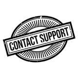 Sello de goma de la ayuda del contacto stock de ilustración
