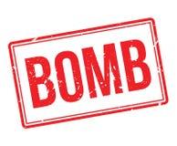 Sello de goma de la bomba Imágenes de archivo libres de regalías