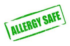 Sello de goma de la caja fuerte de la alergia Fotos de archivo