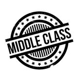 Sello de goma de la clase media Foto de archivo