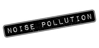 Sello de goma de la contaminación acústica Imágenes de archivo libres de regalías
