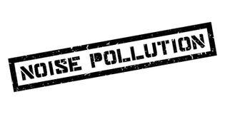 Sello de goma de la contaminación acústica Fotos de archivo