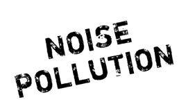 Sello de goma de la contaminación acústica Foto de archivo libre de regalías