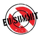 Sello de goma de la cumbre del Eu ilustración del vector