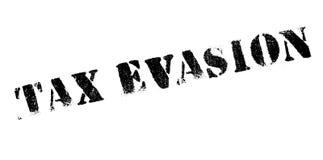Sello de goma de la evasión fiscal Fotos de archivo libres de regalías