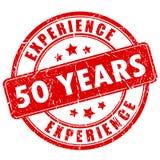 sello de goma de la experiencia de 50 años Fotos de archivo libres de regalías
