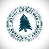 Sello de goma de la Feliz Navidad Fotografía de archivo libre de regalías
