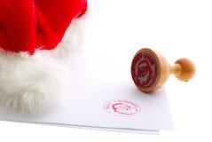 Sello de goma de la Feliz Navidad Foto de archivo libre de regalías
