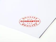 Sello de goma de la garantía Imágenes de archivo libres de regalías