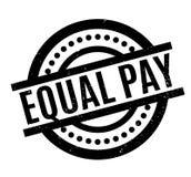 Sello de goma de la igualdad de salario stock de ilustración