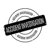 Sello de goma de la investigación de accidente Imagen de archivo
