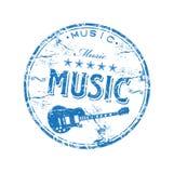 Sello de goma de la música Imagen de archivo libre de regalías