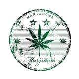 Sello de goma de la marijuana Imágenes de archivo libres de regalías