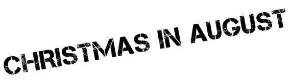 Sello de goma de la Navidad en agosto Fotografía de archivo libre de regalías
