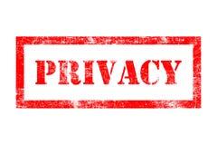 Sello de goma de la privacidad Foto de archivo