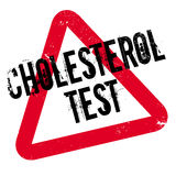Sello de goma de la prueba del colesterol Imagenes de archivo