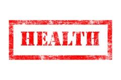 Sello de goma de la salud Fotos de archivo libres de regalías